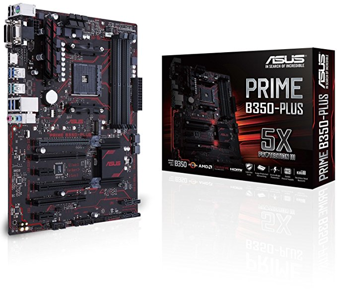 ASUS PRIME B350-PLUS - ATX Motherboard for AMD Socket AM4 CPUs